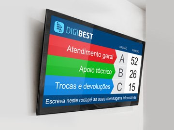 Monitor Display Filas Loja