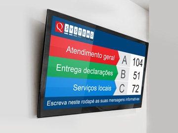 Monitor Gestão de Filas na sala de espera