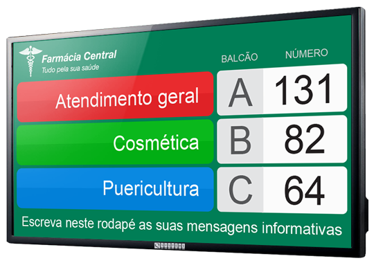 Display Atendimento QSystems Farmácia